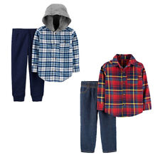 NWT Carters Baby / Toddler Boys 2pc Fall Winter Flannel...