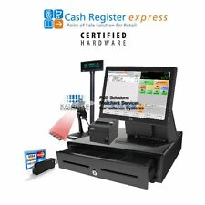 pcAmerica CRE POS ELO Retail Supermarket All-in-one Station Complete Bundle NEW