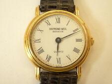 Raymond Weil Model 5718 Ladies 18k Gold EP Quartz Watch White Roman Dial