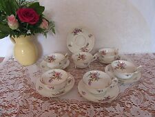 Stunning Antique  bone china Tea set  Footed/peony shape cups 12 pieces