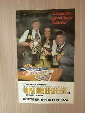 Vintage 1972 Kw Oktoberfest Poster