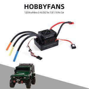 HOBBYFANS 120A Brushless 2-4S ESC Super Smooth W/ BEC for 1:8 TRAXXAS RC Car