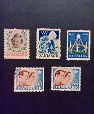 Denmark Christmas seals dated 1942/43/46 and 47
