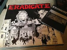 """ERADICATE 12"""" LP HARDCORE + BOOKLET - ORANGE VINYL"""
