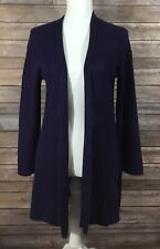 Eileen Fisher Womens Ultrafine Merino Wool Long Sweater Medium Petites Purple G3