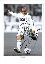 Roberto Carlos Collage Real Madrid Authentic Hand Signed football photo SS937