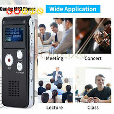 Rechargeable 8GB Digital Sound Voice Recorder Dictaphone MP3 Player record