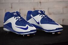 New Nike MVP Baseball Metal Cleats Blue White 684685-411 size 11.5