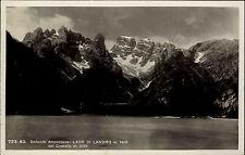 Lago di Landro Dürrensee Südtirol Italien s/w AK ~1920/30 col Cristallo Dolomiti