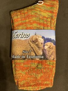 Made In AUSTRALIA MERINO WOOL 100% MADE IN TASMANIA Sz 7 Unisex CHRISTMAS GIFT