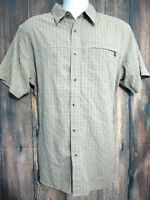 The North Face Mens Size L Green Plaid Short Sleeve Shirt
