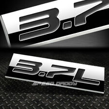 METAL EMBLEM CAR BUMPER TRUNK FENDER DECAL LOGO BADGE CHROME BLACK 3.7L 3.7 L