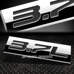 METAL EMBLEM CAR BUMPER TRUNK FENDER DECAL LOGO BADGE CHROME BLACK 3.7L 3.7 L