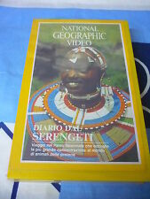 DIARIO DAL SERENGETI NATIONAL GEOGRAPHIC VIDEO LIBRO+VHS
