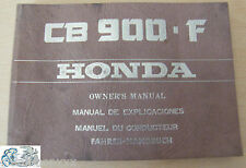 Honda manual del propietario CB 900 F Y tipo