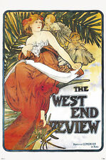 """24X36  Mucha """" West End Review"""" art poster"""