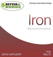 Fumarico Ferroso Solfato Compresse Ferro Pillole Better Bodies UK prodotte