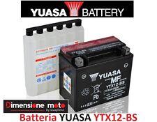 Batteria YUASA YTX12-BS 12V-10Ah per Honda TRX 250 TE FourTrax Recon dal 2002