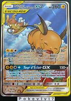 Carte Pokemon RAICHU ET RAICHU D'Alola 221/236 GX Escouade FA SL11 FR NEUF
