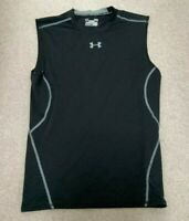 Under Armour Sleeveless Black Mesh Back Training T-Shirt L