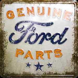"GENUINE FORD PARTS 12 x 12"" METAL EMBOSSED SIGN RETRO SERVICE NOSTALGIA GARAGE"