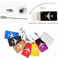 Aluminium Travel Luggage Baggage Suitcase Address Tag Label Holder 1pc