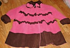 CORKY'S KIDS LITTLE GIRLS SIZE 7/8/10 GORGEOUS DARK PINK AND BROWN WINTER COAT