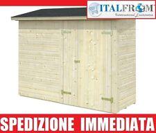 Annesso Box Casette Casetta da Giardino in Legno d'Abete16mm mq2,2-ITALFROM112