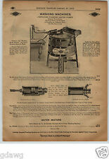 1913 PAPER AD Norleigh Diamond Water Power Motor Washing Machine Diagram