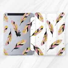 Gold Pink Bird Feather Girly Case For iPad Pro 9.7 10.5 11 12.9 Air Mini 2 3 5