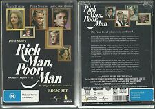 RICH MAN POOR MAN BOOK 2 CHAPTERS 1-22 MINISERIES IRWIN SHAW NEW 6 DVD SET