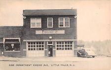 c.1940 Fire Department Engine #2 Little Falls NJ post card