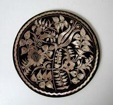ancienne assiette en cuivre métal gratté Vintage ethnique Turquie 15cm