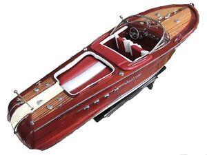 """Riva Aquarama Speed Ship Boat  Model Wood Wooden Italian Nautica Handmade 21"""""""