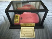 JOE FRAZIER SIGNED BOXING GLOVE W/  DISPLAY CASE and proof of authentication