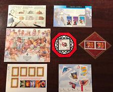 Canada 7x Souvenir Sheet lot, Basketball, Lunar year, Family, Capex 87 MNH