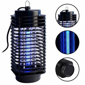 LED Flying Bug Traps Light Electric Mosquito Killer Pest Kill Lamp Outdoor Home
