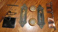 Antique Brass Victorian Door Knobs  - Complete Sets - 7 sets available