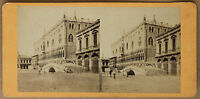 Venice Italia Palazzo Ducale Stereo Vintage Albumina Ca 1860