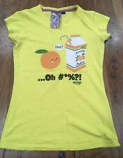 NEW BREED GIRL Yellow T-shirt Funny Humorous Comic Comedy Like David & Goliath M