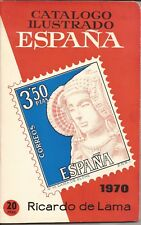 1970 Catalogo Ilustrado sellos España - Ricardo de Lama -CURIOSIDAD