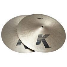 "Zildjian K0820 13"" Matched Hi Hat Cymbals In Pair Bronze Drumset Hihats - Used"