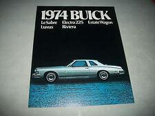 1974 BUICK LeSABRE LUXUS RIVIERA ELECTRA 225 SALES BROCHURE CDN ISSUE NO STAMP