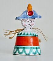 Desimone Vtg Mid Century Italian Art Pottery Sculpture Figurine Bell Italy