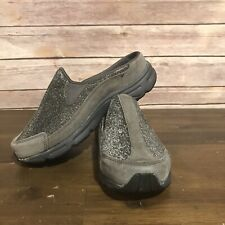Easy Spirit Hot Racings Slip On Mule Shoe Gray Suede & Sparkle Accent Size 6 M