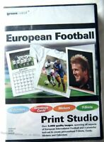 69765 - European Football Print Studio [NEW / SEALED] - PC () Windows XP