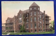 Antique Postcard 1912 Mary Connor College Paris Texas