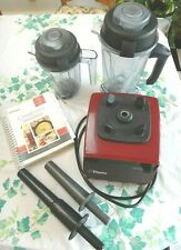 Vitamix Creations Turbo #VM0102 Red w/2 Containers, 2, Lids, 2 Tampers & Manual