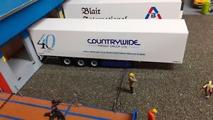 1:50 Scale Wsi Trailer, Manfreight / Countrywide 40 Years  Code 3 Auction