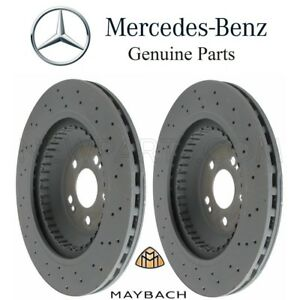For MB  W222 Maybach S600 S550 Pair Set of 2 Rear Brake Discs Rotors Genuine